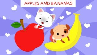 Apples and Bananas with lyrics | Vowel song | Songs for children | Songs for kids | Boo and Lily
