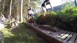 Danny MacAskill & Duncan Shaw on trials park in Austria