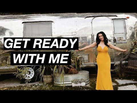 Get Ready With Me in a VINTAGE AIRSTREAM TRAILER!