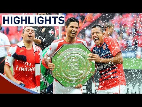 Arsenal 3-0 Manchester City | Community Shield 2014 | Goals & Highlights