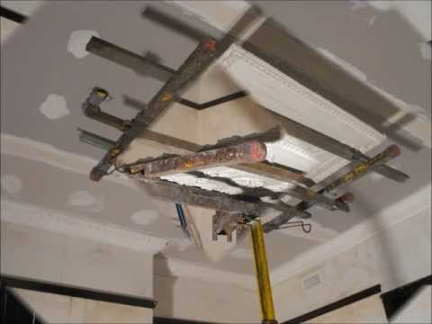 Ceiling rose installation & strapping - Hawthorn Plaster Repairs
