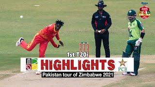 Zimbabwe vs Pakistan Highlights   1st T20i