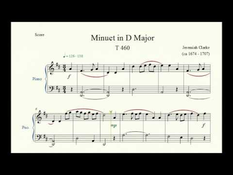 Jeremiah Clarke - Menuet In G Major