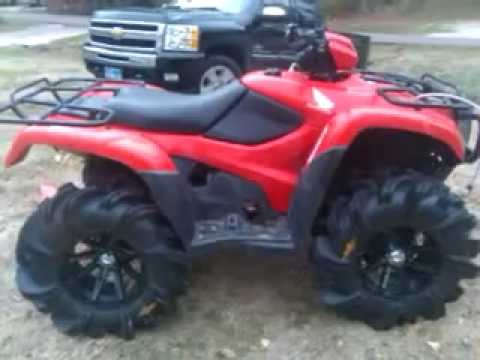 2012 Honda Fourman 4x4 On 29 5 Outlaw2 Youtube