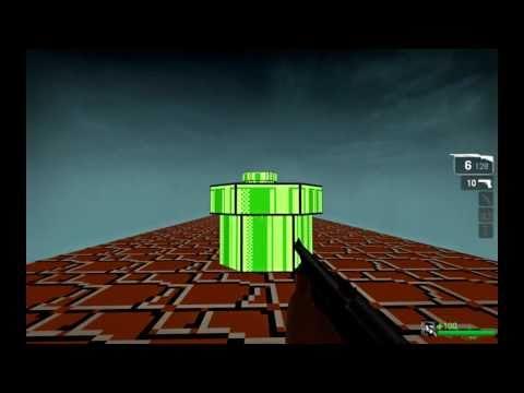 Super Mario Bros como si fuera un FPS