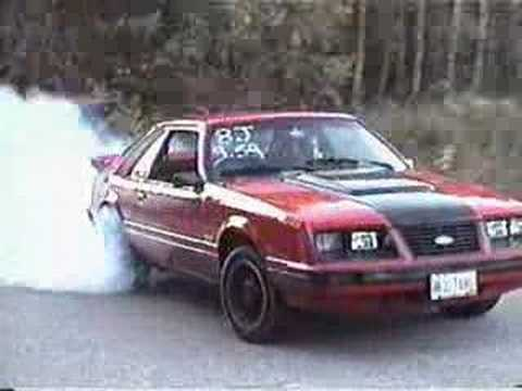 1983 Mustang gt burnout