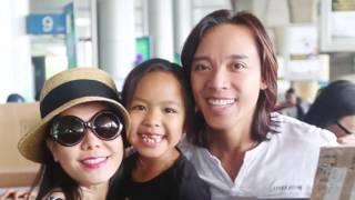 Việt Hương hạnh phúc đón chồng con ở sân bay(Tin tức Sao Việt)