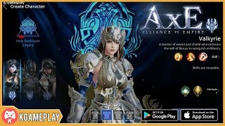 AxE Alliance vs Empire Global Valkyrie Gameplay Open World Fantasy MMORPG Android/iOS