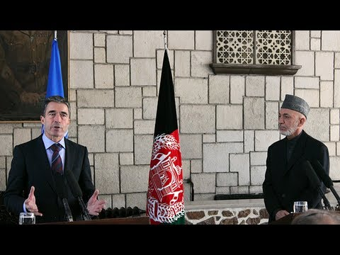 Joint Press conference by NATO Secretary General Rasmussen and President Karzai.