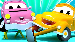 Odtahové auto Tom ve Městě Aut 🚗  Speciál zpátky do školy - Malá Péťa má nehodu - Animáky o autech