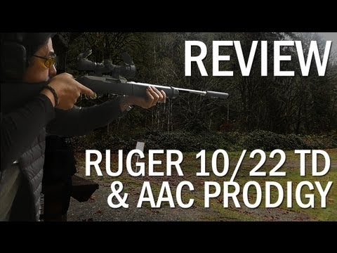Threaded Ruger 10/22 Takedown with AAC Prodigy Silencer/Suppressor Review