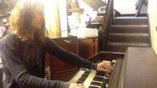 Adam Wakeman recording keyboard parts on HS2