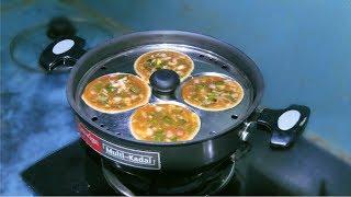 ಆಮ್ಲೆಟ್ ಇಡ್ಲಿ - egg omelette idli - 5 minute snacks - best morning breakfast