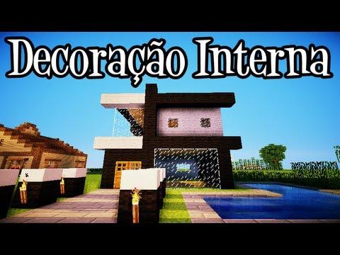 Tutoriais Minecraft: Decoração Interna da Casa Moderna 10x10