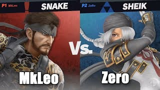 ZeRo vs MkLeo Winners Finals - Super Smash Bros. Ultimate Invitational at E3 2018