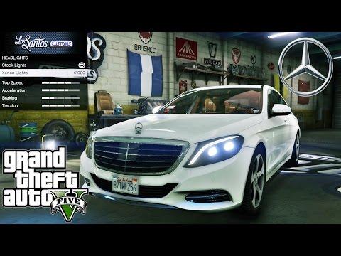 Mercedes Benz S500 GTA V car mod tuning !! [ Soley911 ]