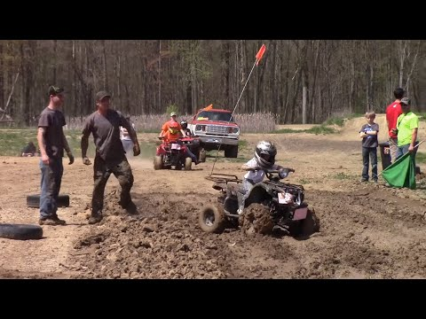 Kids ATV Races At Run What Ya Brung Indiana May 2015 Finish View