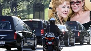 Final Farewell For Carrie Fisher And Debbie Reynolds As Family And Friends Say Goodbye