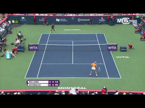 Serena Williams vs Caroline Wozniacki, Rogers Cup 2014 (1/4 Finale), highlights HD - Montreal