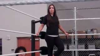 Charlotte, Sara Amato, NXT Divas at WWE Performance Center 2014