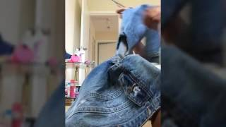 DIY Rock Star Jeans Distress Jacket -Addi Bling