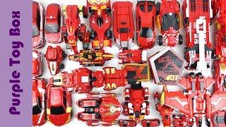 35 Red Transformer Toys, Dinosaur Animal Car Airplane Robot Toys