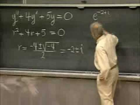 Lec 9 | MIT 18.03 Differential Equations, Spring 2006