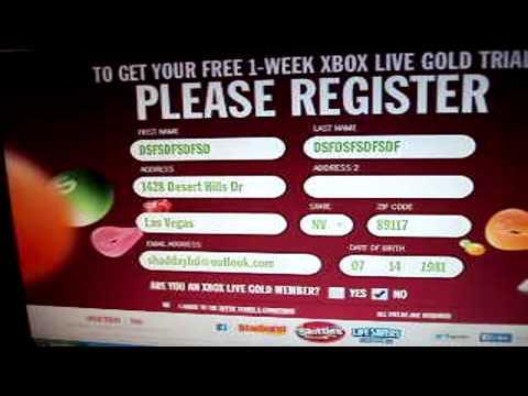 Xbox live gold gratis TUTORIAL (promocion skittles) Julio 2014