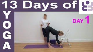 Day 1 - 13 Days of Yoga. Iyengar Yoga for Beginners