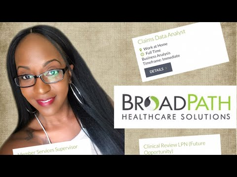 Now Hiring!! Work From Home HealthCare Jobs At BroadPath HealthCare Solutions