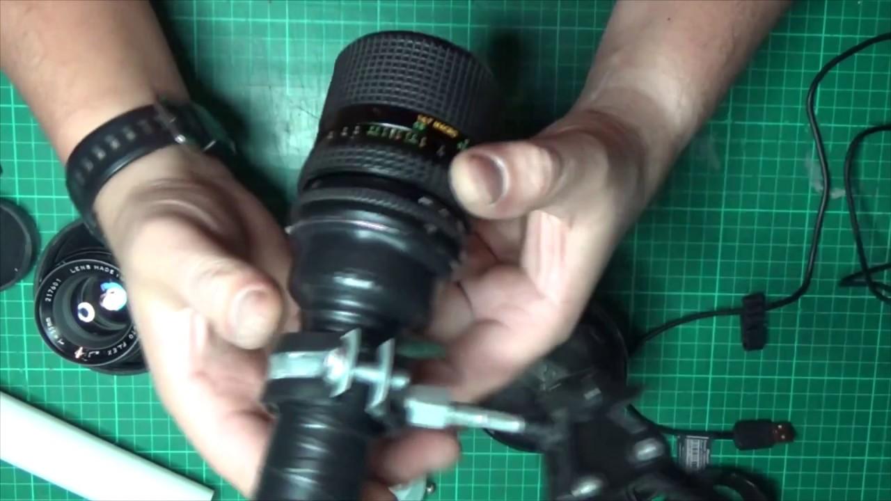 Как сделать микроскоп из объектива 92