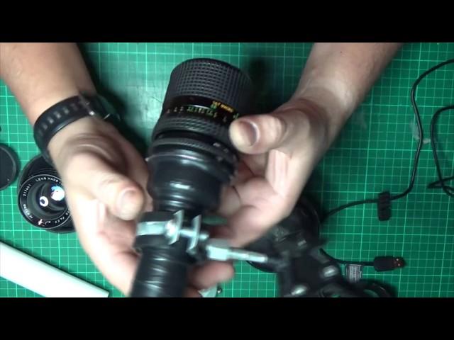 Как сделать микроскоп из объектива 128