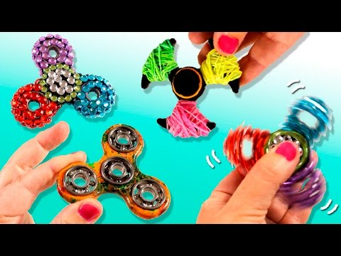 ¡¡PERSONALIZA Tu FIDGET SPINNER!! * 5 IDEAS Para Customizar Y DECORAR Tu Spinner