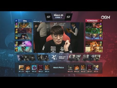 BBQ (IgNar Morgana) VS KDM (Secret Leona) Game 1 Highlights - 2018 LCK Spring W9D3