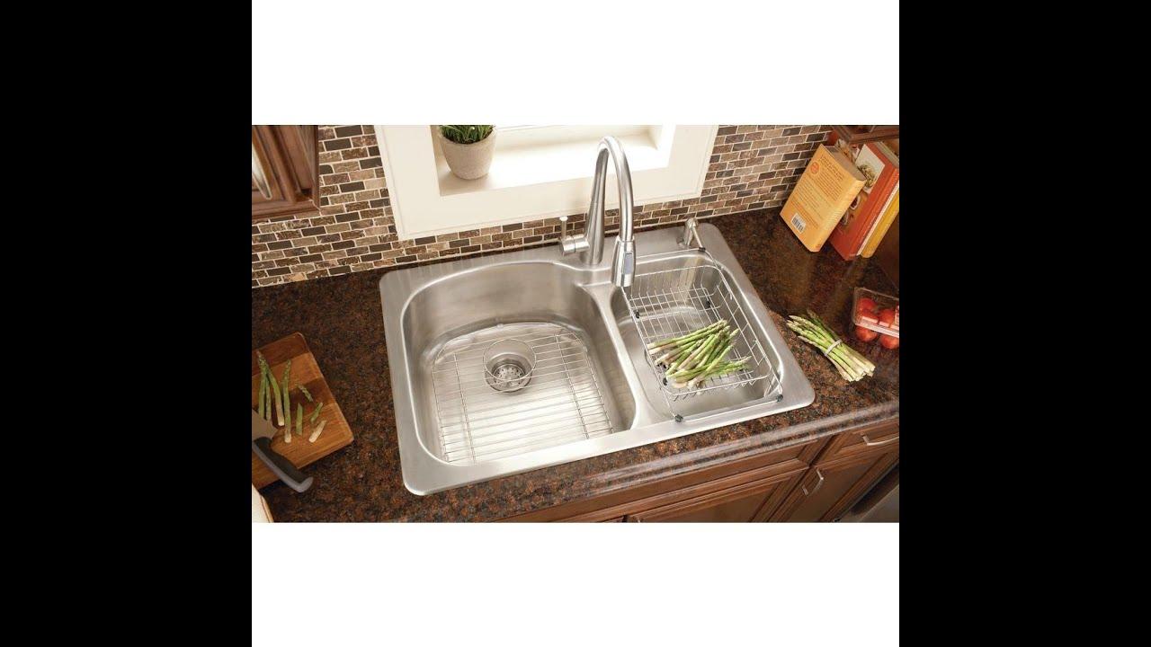Kitchen Sink Installation Glacier Bay Top Mount Stainless