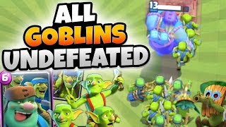 INSANE NEW ALL GOBLIN UNDEFEATED DECK! | Clash Royale | MAX NEW CARD ALL GOBLIN DECK GAMEPLAY!