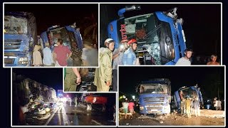 Lật xe khách ở Phú Yên, 11 người bị thương