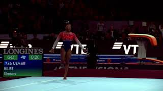 Simone Biles (USA) Floor Team Final 2019 Stuttgart World Championships