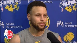 Steph Curry on free agency talk: Warriors are 'one group until we're not' | 2019 NBA Playoffs
