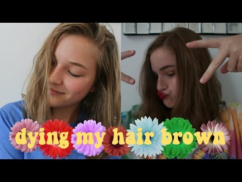 blonde to light brown! / CLAIROL NATURAL INSTINCTS. how to dye your hair. + transformation