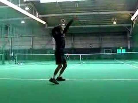 20080130恒例早朝テニス サーブ練習奥村ver