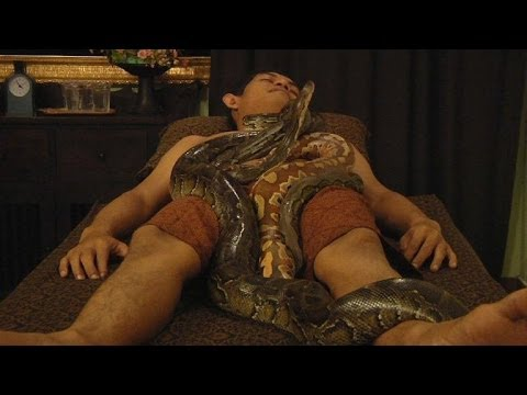 Destressss with an Indonesian snake massage