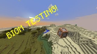 BIOME TESTING IN MINECRAFT 1.9/1.10/1.11 (Snapshot 16w39c)