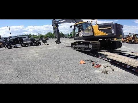 Heavy Haul TV: Volvo EC300EL; 66,640 LBs; Pennsylvania to Quebec, Part 3