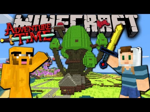 Minecraft: Adventure Time! Map Quest With Jake In Ooo - Ep.1 - Treehouse & Candy Kingdom video