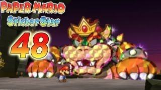 Let's Play Paper Mario Sticker Star Part 48: Final Big Bowser Fight & Credits