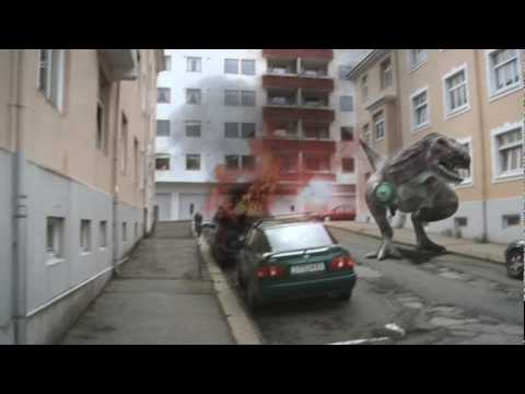 Thumb Dinosaur with laser gun