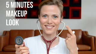 My everyday 5 minutes makeup look for work at the hospital | Makeup And Medicine