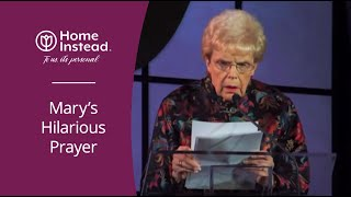 Funny Prayer about Getting Old at the Caregiver of the Year Dinner