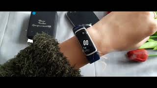 Smart Bracelet with Heart Rate Monitor, Fitness Tracker, Color Screen, Sleep Monitor